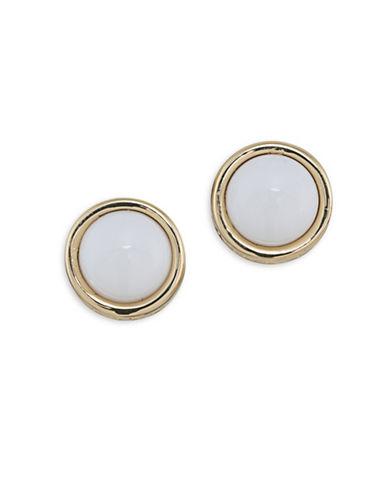 Trina Turk Mojito Nights White Stud Pierced Earrings-WHITE-One Size
