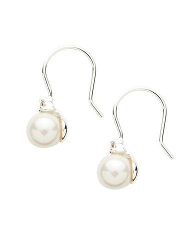 Lauren Ralph Lauren Pearl Drop Earring-WHITE-One Size