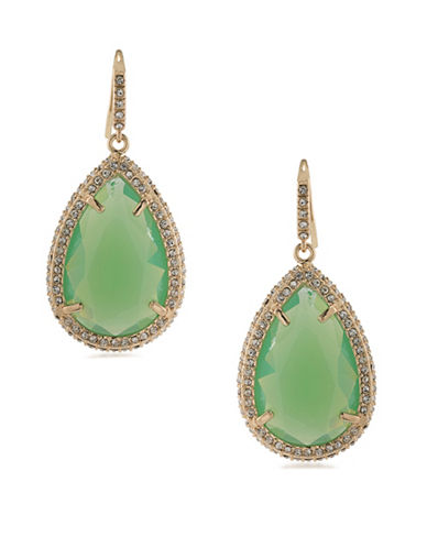 A.B.S. By Allen Schwartz Teardrop Opal Drop Earrings-GREEN-One Size