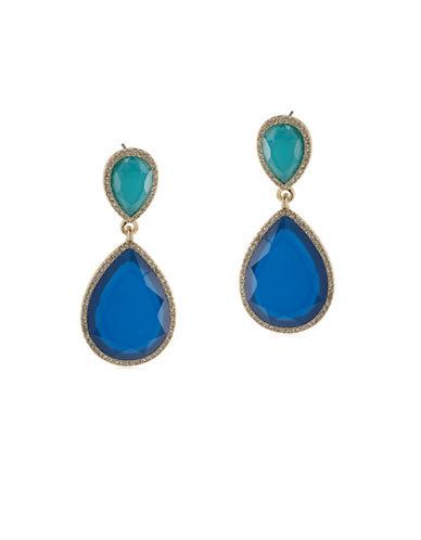 A.B.S. By Allen Schwartz Castaway Linear Drop Pierced Earrings-BLUE-One Size