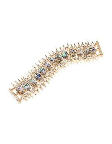 A.B.S. By Allen Schwartz Castaway Flexible Bracelet-GOLD-One Size
