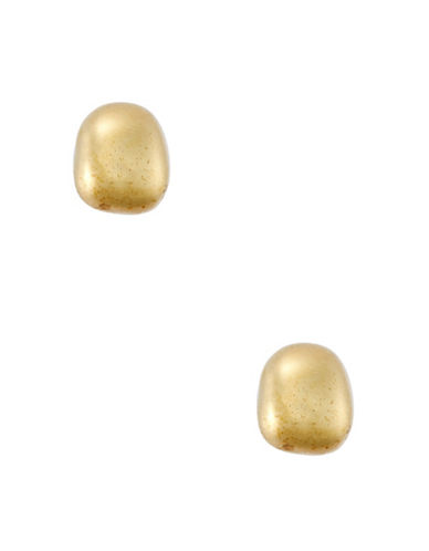 Lauren Ralph Lauren 14K Gold Plated Pillow Stud Earrings-GOLD-One Size