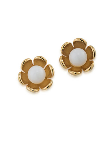 Trina Turk Flower Stud Earrings-WHITE-One Size