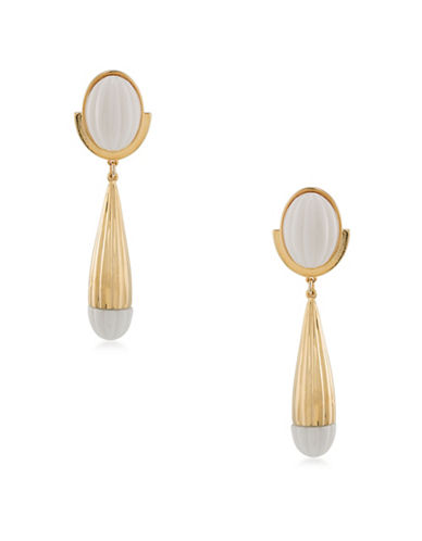 Trina Turk Palm Springs Cab Drop Earrings-WHITE-One Size