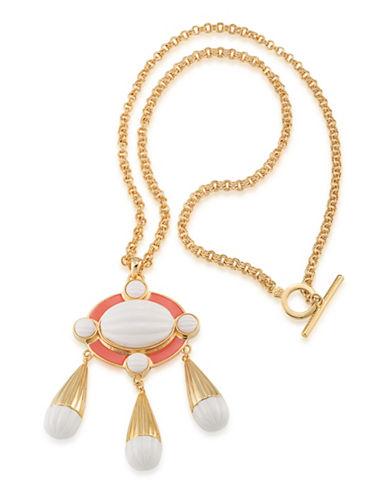 Trina Turk Cabachon Pendant Necklace-WHITE-One Size