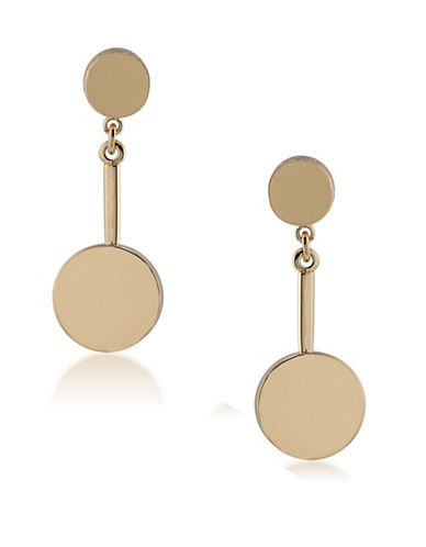 Trina Turk Indian Canyon Goldtone Double Disc Earrings-GOLD-One Size