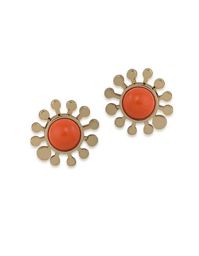 Trina Turk Indian Canyon Goldtone Flower Stud Earrings-GOLD-One Size
