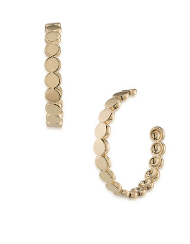 Trina Turk Indian Canyon Goldtone Scalloped Hoop Earrings-GOLD-One Size