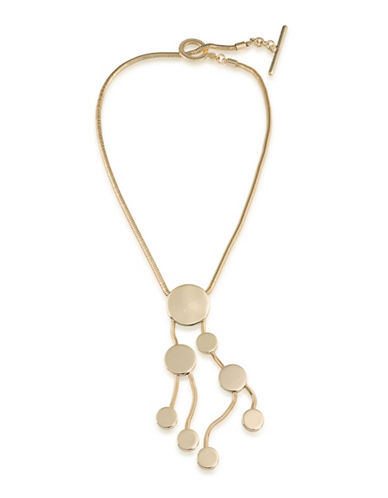 Trina Turk Indian Canyon Goldtone Cascading Disc Pendant Necklace-GOLD-One Size