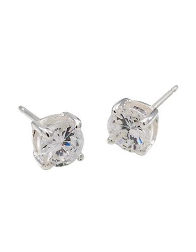 Carolee Petite CZ Stud Earrings-SILVER-One Size