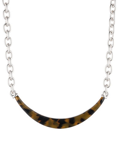 Lauren Ralph Lauren Link and Frontal Necklace-DARK BROWN-One Size
