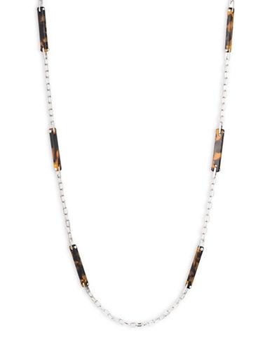Lauren Ralph Lauren Lauren Tortoise Necklace-DARK BROWN-One Size
