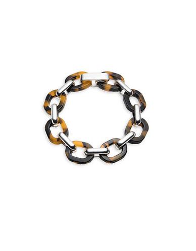 Lauren Ralph Lauren Tortoiseshell Link Bracelet-DARK BROWN-One Size