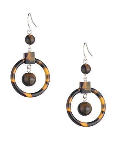 Lauren Ralph Lauren Tortoiseshell Beaded Chandelier Earrings-DARK BROWN-One Size