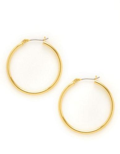 Lauren Ralph Lauren Tube Hoop Earrings-GOLD-One Size