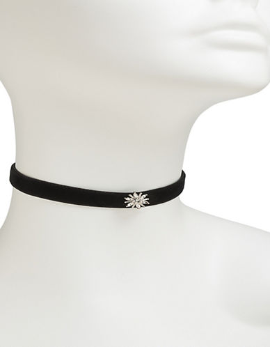 Carolee Starburst Choker Necklace-BLACK-One Size