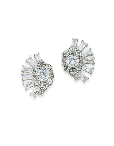 Carolee Glass Ceiling Stud Earrings-SILVER-One Size