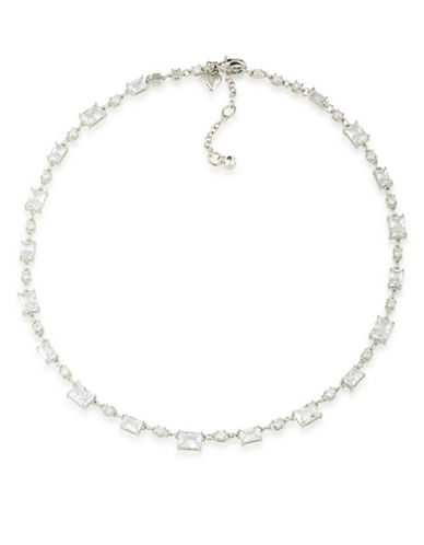 Carolee Pave Collar Bridal Necklace-SILVER-One Size