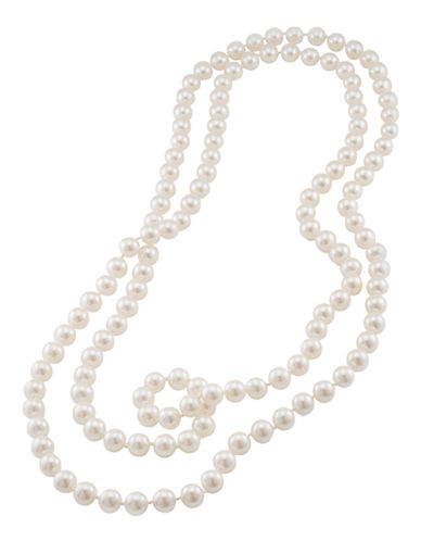 Carolee White Pearl Rope Necklace-WHITE-One Size