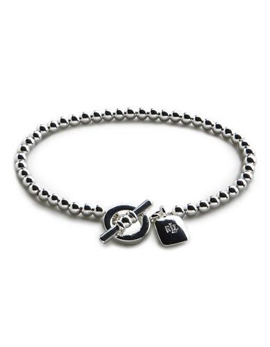 Lauren Ralph Lauren 4Mm Silvetone Bead Bracelet-SILVERTONE-One Size