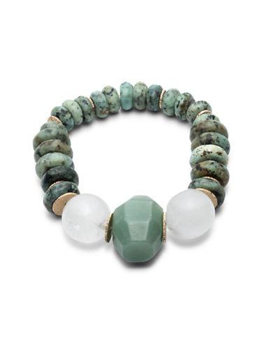 Lauren Ralph Lauren Graduated Bead Stretch Bracelet-GREEN-One Size