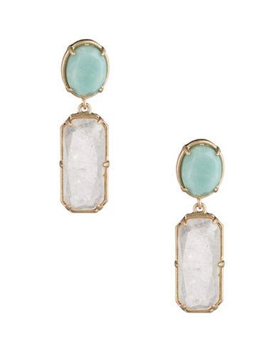 Lauren Ralph Lauren Stone Double Drop Earrings-GREEN-One Size