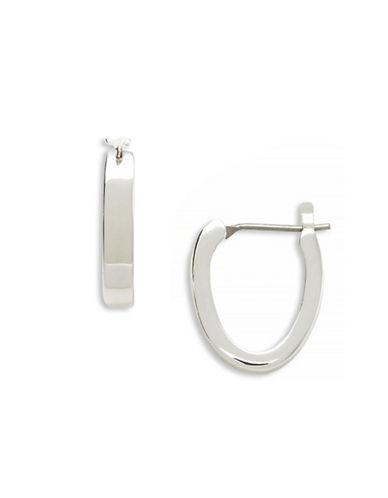 Lauren Ralph Lauren Oval Hoop-SILVER-One Size