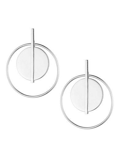 Lauren Ralph Lauren Silvertone Double Circle Hoop Earring-SILVER-One Size