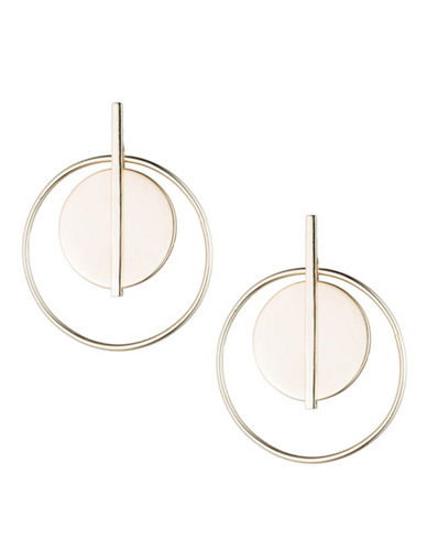 Lauren Ralph Lauren Goldtone Double Circle Hoop Earring-GOLD-One Size