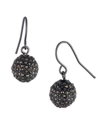 Lauren Ralph Lauren Crystal Pavé Ball Drop Earrings-DARK GREY-One Size