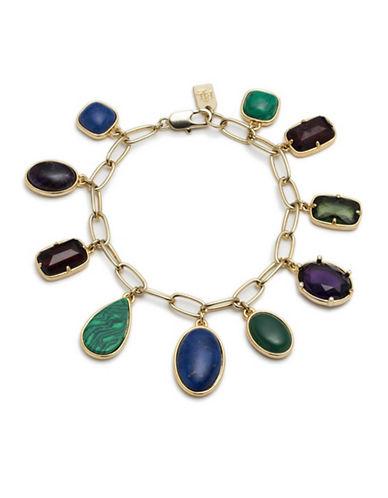Lauren Ralph Lauren Multi Stone Charm Bracelet-MULTI-One Size