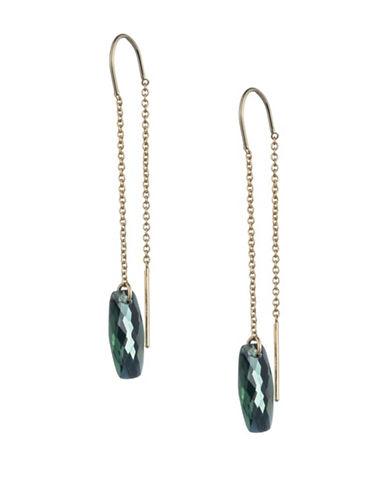 Lauren Ralph Lauren Drop Threader Earrings-GREEN-One Size