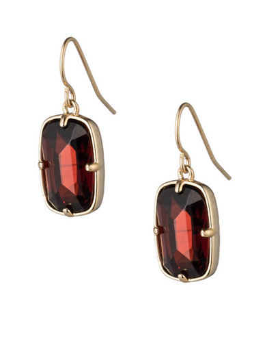 Lauren Ralph Lauren Drop Earrings-RED-One Size
