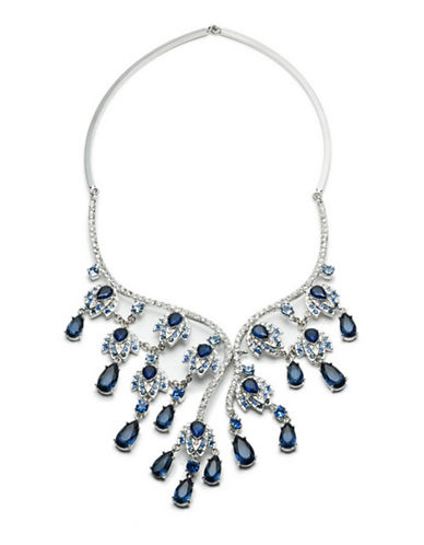 Carolee Imperial Sky Ombre Drama Necklace-BLUE-One Size