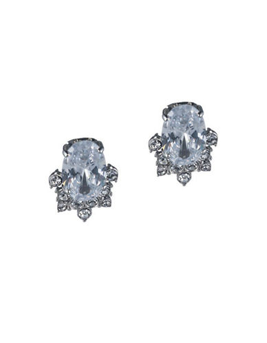Carolee Imperial Sky Oval Cluster Clip Earrings-SILVER-One Size
