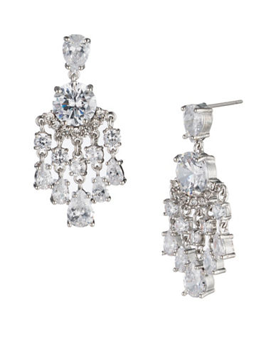 Carolee Imperial Sky Mini Chandelier Earrings-SILVER-One Size