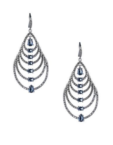 Carolee Imperial Sky Pear Drop Earrings-SILVER-One Size
