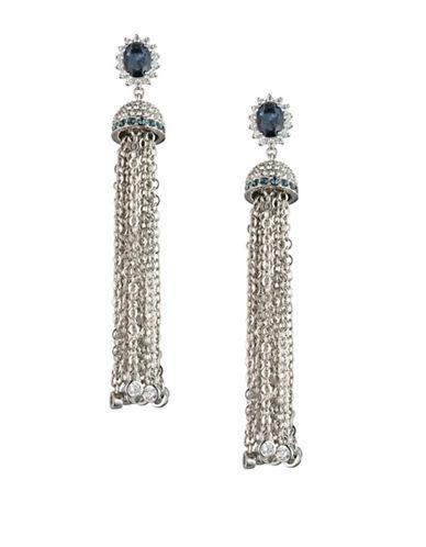 Carolee Imperial Sky Tassel Earrings-SILVER-One Size
