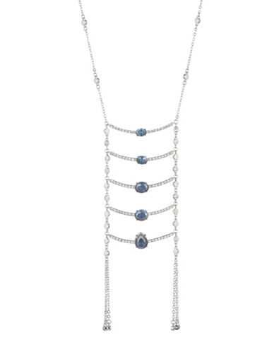 Carolee Imperial Sky Ladder Necklace-SILVER-One Size