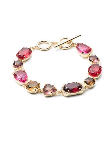 Carolee Victorian Empire Link Bracelet-RED-One Size