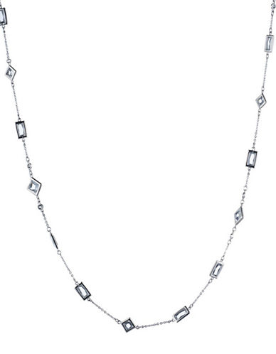 Carolee Crystal Abbey Illusion Necklace-SILVER-One Size