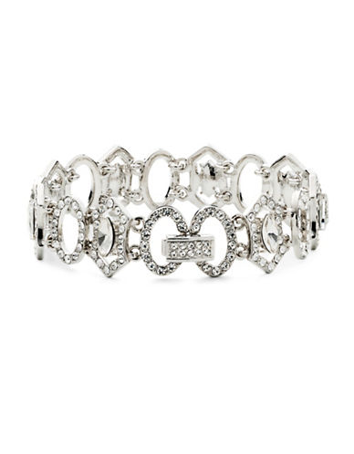 Carolee Crystal Abbey Flex Bracelet-SILVER-One Size