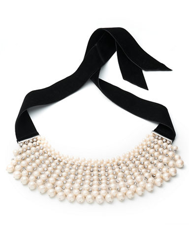 Carolee Pearl Manor 12mm White Pearl Choker Necklace-WHITE-One Size