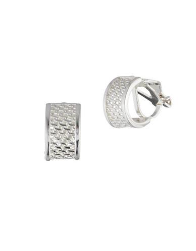 Lauren Ralph Lauren Half-Round Huggie Earrings-SILVER-One Size