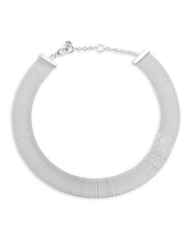 Lauren Ralph Lauren Mesh Choker Necklace-SILVER-One Size