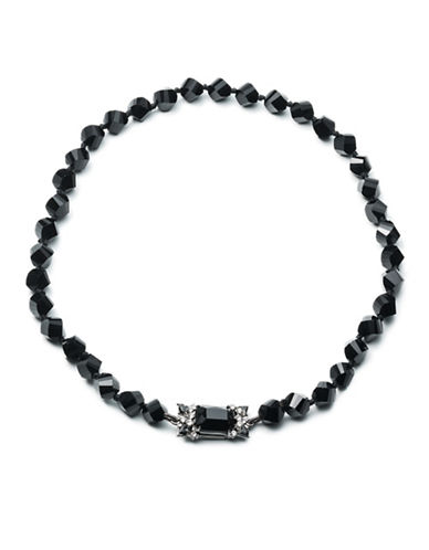 Carolee Midnight Tower Beaded Necklace-BLACK-One Size