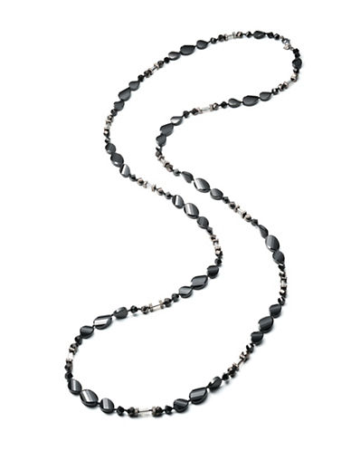 Carolee Midnight Tower Beaded Strand Necklace-BLACK-One Size