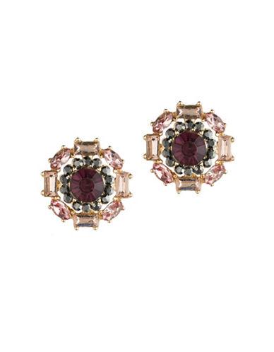 A.B.S. By Allen Schwartz Make Me Blush Stud Earrings-GOLD/PINK-One Size