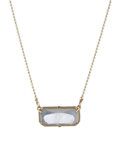 Lauren Ralph Lauren Stone Pendant Necklace-WHITE-One Size