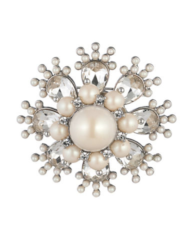 Carolee Royal Treasures Burst Pin-WHITE-One Size